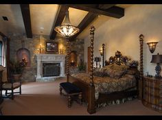Tuscan style...hearth room idea with stone