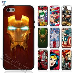 Comics Superheroes Iron Man X-men Case For iphone 5s Case for iphone 5 5s Cover Soft TPU+Hard PC Hybrid With Free Gift