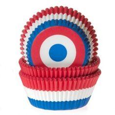 Baking Cups van House of Marie met een mooi design, Nederlandse vlag rood, wit en blauw, geven jou cupcakes een bijzondere uitstraling.
