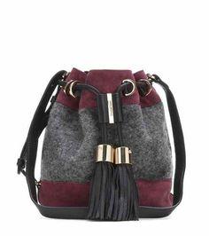 Vicki Mini felt and suede shoulder bag | See By Chloé