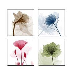 Home Art Contemporary Art Flower Giclee Canvas Prints Fra...