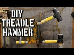 DIY Treadle Hammer Plans // Power Hammer Plans by Christ Centered Ironworks Power Hammer Plans, Blacksmith Power Hammer, Forging Hammer, Forging Knives, Blacksmith Tools, Blacksmith Projects, Forged Knife, Forging Metal, Tactical Knives