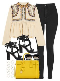 """Untitled #2030"" by roxy-camarena on Polyvore featuring Topshop, Isabel Marant, Yves Saint Laurent and ASOS Curve"