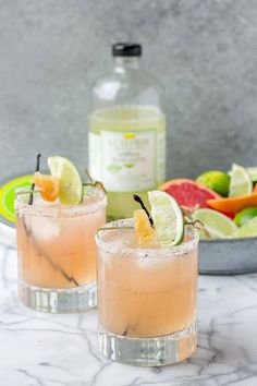 Grapefruit Ginger Vanilla Margarita recipe | Strawberry Blondie Kitchen