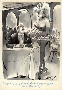 BILL WENZEL - $1.00 a pack … $100 if you pick them up at my place after 2 A.M. - item by theinvisibleagent.wordpress Cartoon Jokes, Cartoon Art, Cartoons, Bill Ward, Pin Up Posters, Various Artists, Back In The Day, The World's Greatest, High Quality Images