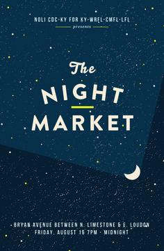 NIGHTとMARKETの間のアクセントが良い