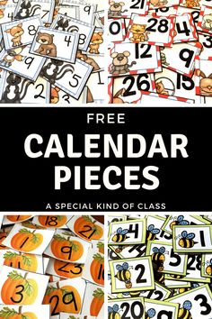 Free calendar numbers for your primary classroom. Whether it's a month or a theme you need, these are the numbers for you.