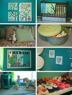 Teal and Lime Nursery-Love this for a girl's nursery that's not part of the age-old pink color scheme!