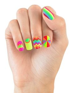 House Of Holland Nails By Elegant Touch - Zig Zag Stardust - Faux-ongles motifs zigzags