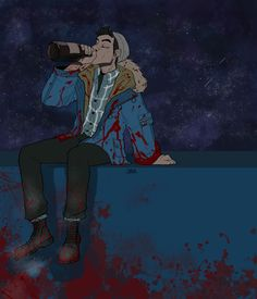 Until Dawn - Some blood and alcohol