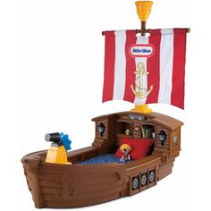 Little Tikes Pirate Ship Toddler Bed...This would complete the Jake and The Neverland Pirates theme for Presley's bedroom
