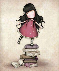 My favourite Gorjuss illustration:-) Art And Illustration, Illustrations, London Illustration, Santoro London, Art Mignon, Cute Art, Paper Dolls, Little Girls, Fine Art Prints