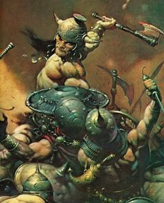 100 Illustrators that all Illustrators should know: Frank Frazetta Country: USA Famous for: Conan the Barbarian, John Carter of Mars, Tarzan, Sword and Sorcery, Fantasy and. Comic Book Artists, Comic Artist, Comic Books Art, Vikings, Science Fiction, Conan Der Barbar, Red Sonja, Comic Kunst, Sword And Sorcery