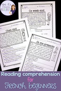These 10 French reading passages are the perfect way to get your beginning French students reading. Each passage includes 3 versions of the student question sheets. Each reading passage is the same, but the questions vary based on the version you choose French Flashcards, French Worksheets, Learning Sight Words, Ways Of Learning, Learning Games, Learning Quotes, French Teaching Resources, Teaching French, Learning Resources