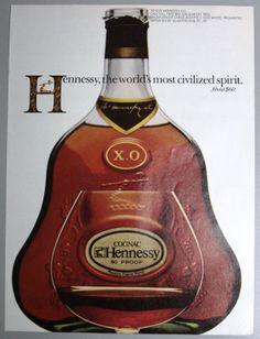 Cognac Hennessy XO Print Ad 1981