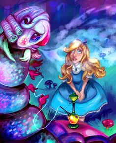 Alice and the Caterpillar -Commission- by CaramelFrog on DeviantArt