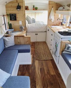 Tiny House Ideas: Inside Tiny Houses – Pictures of Tiny Homes Inside and Out (vi – Van Life Van Living, Tiny House Living, Living Spaces, Living Room, Living Area, Inside Tiny Houses, House Inside, Interior Trailer, Small Camper Interior