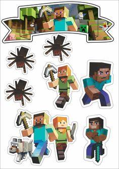 – Oh My Fiesta! for Geeks - Minecraft Minecraft Crafts, Minecraft Clipart, Minecraft Party Decorations, Mine Craft Party, Pastel Minecraft, Minecraft Pixel Art, Minecraft Skins, Minecraft Buildings, Minecraft Bedding
