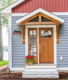 Read Full about 70 Best Modern Farmhouse Front Door Entrance Design Ideas House Siding, Farmhouse Front, Front Door Overhang, Entrance Design, Modern Farmhouse, Front Door Entrance, Door Overhang, Porch Overhang, House Exterior
