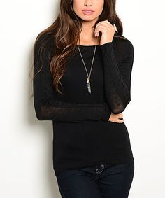 Love this Black Open-Back Tee by Shop the Trends on #zulily! #zulilyfinds