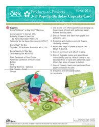 3D Pop-Up Birthday Cupcake card
