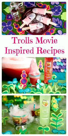 DreamWorks Trolls Movie Inspired Recipes.  Fun Trolls party ideas and kid friendly #recipes.