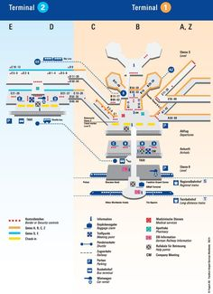 FRA Frankfurt am Main Airport Terminal Map airports Pinterest