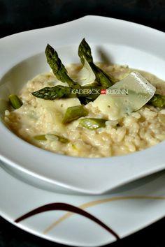 Recette risotto – Risotto printanier aux asperges vertes et fromage
