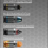 SO, these rounds were created for one of my most recent gun concepts. Sci Fi Weapons, Weapon Concept Art, Armor Concept, Fantasy Weapons, Weapons Guns, Guns And Ammo, Futuristic Armour, Futuristic Art, Futuristic Technology