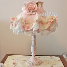 Dimmer switch rustic lace princess rose resin table lamp bedroom bedside lamp wedding gifts US $45.46