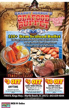Seafood World Myrtle Beach Coupon