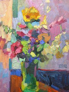 Multi colored flowers from g α l l ℯ r y - Larisa Aukon