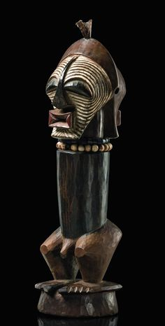 "Africa | Standing male power figure ""nkisi"" from the Songe people of DR Congo 