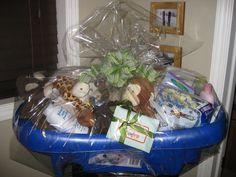 How to make a baby bathtub into a baby bundle gift | Bath tubs ...