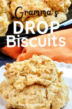 These are THE BEST biscuits EVER. Crunchy on the outside, tender on the inside. No matter how you butter your biscuit, these are a snap to make. #bakingpowderbiscuits #dropbiscuits #homemademadebiscuits #biscuitsandgravy Brunch Recipes, Breakfast Recipes, Brunch Ideas, Breakfast Time, Breakfast Dishes, Breakfast Ideas, Homemade Biscuits From Scratch, Baking Powder Biscuits, Side Dish Recipes
