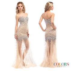 Sheer & Sexy. COLORS DRESS Style 1095. #Sheer #gown #prom #sexy #fashion #NYE #2015