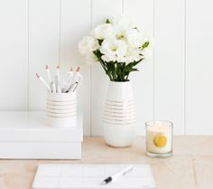 It's important to surround yourself with things you love and we believe in the beauty of fresh flowers in this gorgeous kikki.K Vase. www.kikki-k.com