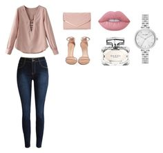 """""""Untitled #129"""" by jazmine-oliveras on Polyvore featuring Stuart Weitzman, Sasha, Gucci, Lime Crime and Kate Spade"""