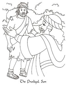 Prodical son Coloring Page Elegant the Prodigal son Catholic Coloring Page Bible Coloring Pages, Coloring Pages For Kids, Coloring Books, Bible Story Crafts, Bible Stories, Sunday School Coloring Pages, Parables Of Jesus, Preschool Bible, Prodigal Son