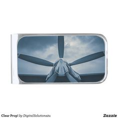 Clear Prop! Silver Finish Money Clip