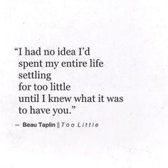 Too Little