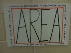 Great visual for perimeter and area!