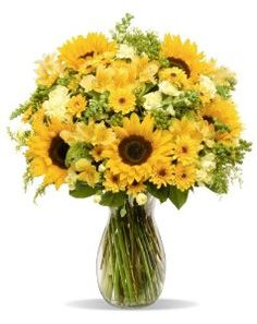#flowerdelivery  Rays of Sunshine – With Vase by Benchmark Bouquets - See more at: http://foodiegiftsnow.com/grocery-gourmet-food/fresh-flowers-live-indoor-plants/rays-of-sunshine-with-vase-com/#sthash.3lNnep0W.dpuf