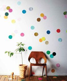 Make a simple confetti mural.