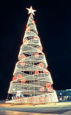 Christmas tree, Lisboa, Lisbon, Portugal