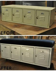 This locker alone would have been great for a mudroom or in the garage, but Lara went a step further by adding a seat cushion. Now, this piece serves double duty as storage and seating.