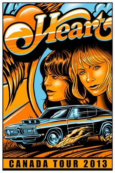 Heart Canada Tour 2013  Poster ☮ Hippie style ~ ☮レ o √乇 ❥ L❃ve ☮~ღ~*~*✿⊱☮ ---