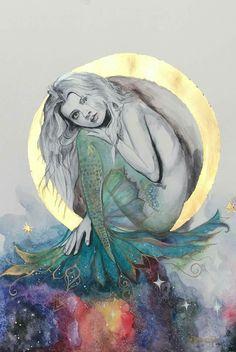 Watercolor Mermaid, Watercolor Art Diy, Mermaid Art, Watercolor Paintings, Mermaid Lagoon, Watercolour, Fantasy Mermaids, Mermaids And Mermen, Mermaid Drawings