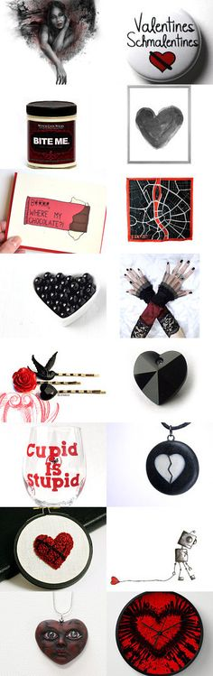 Valentine's Day on the Dark Side by Gari Anne on Etsy--Pinned with TreasuryPin.com