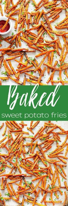 Crispy Baked Sweet Potato Fries: simple, quick, healthy, and amazingly flavorful! Serve them as a side dish, appetizer or snack.
